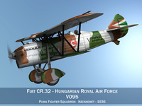 Fiat CR.32 - Hungarian Royal Air Force - V095 3D Model