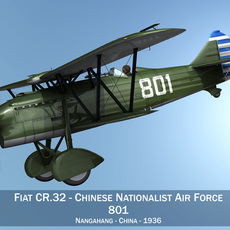 Fiat CR.32 - Chinese Nationalist Air Force 3D Model