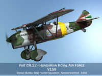 Fiat CR.32 - Hungarian Royal Air Force - V159 3D Model