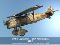 Fiat CR.32 - Italy Airforce - 410 Squadriglia 3D Model