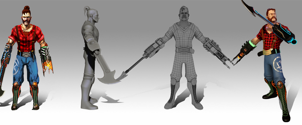 3d character modelers and texturing artists show