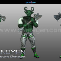 3d greenoman warrior character modeling cover