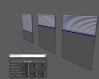Window blinds creator 0.0.5 for Maya (maya script)