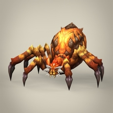 Game Ready Fantasy Spider 3D Model