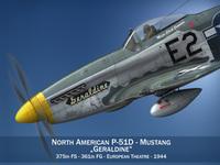 North American P-51D Mustang - Geraldine 3D Model