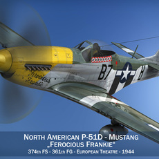North American P-51D Mustang - Ferocious Frankie 3D Model