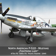 North American P-51D Mustang - Fighting Lady 3D Model