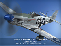 North American P-51D Mustang - Grim Reaper 3D Model