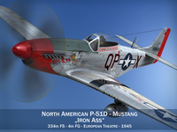 North American P-51D Mustang - Iron Ass 3D Model