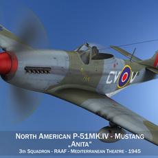 North American P-51K Mustang MK.IV - Anita - RAAF 3D Model