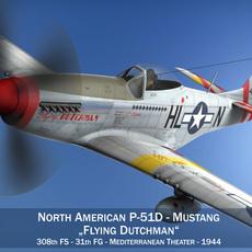 North American P-51D - Flying Dutchman 3D Model