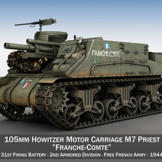 M7 Priest - Franche-Comte 3D Model