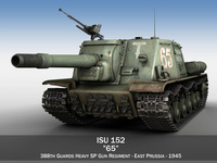 ISU 152 - 65 - Soviet heavy self-propelled gun 3D Model