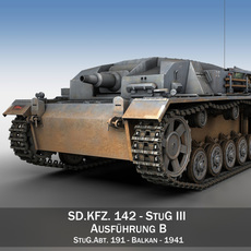 StuG III - Ausf.B - StuG Abt 191 3D Model