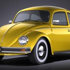 Volkswagen Beetle 1980 VRAY 3D Model