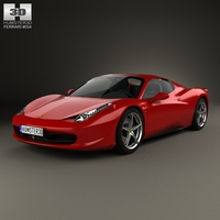 Ferrari 458 Spider 2010 3D Model