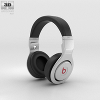 Beats Pro Over-Ear Headphones Infinite Black 3D Model