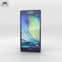 Samsung Galaxy Alpha A3 Midnight Black 3D Model