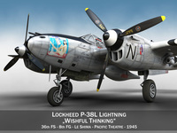 Lockheed P-38 Lightning - Wishful Thinking 3D Model