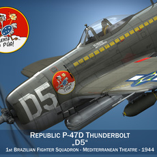 Republic P-47D Thunderbolt - Brazilian Air Force 3D Model