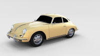 Porsche 356 Coupe rev 3D Model
