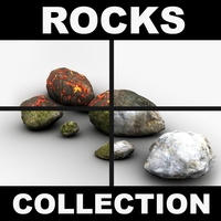 Detailed rocks collection 3D Model