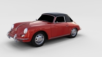 Porsche 356 Cabrio rev 3D Model
