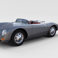 Porsche 550 Spyder gray rev 3D Model