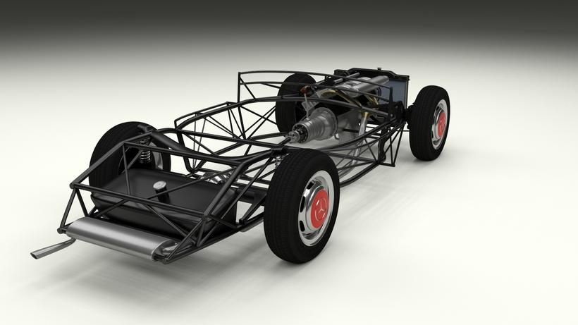 Fully Modelled/Rigged Mercedes 300SL Gullwing rev 3D Model