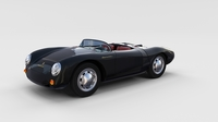 Porsche 550 Spyder black rev 3D Model
