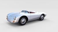 Porsche 550 Spyder rev 3D Model