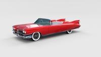 1959 Cadillac Eldorado Biarritz rev 3D Model