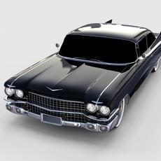 1959 Cadillac Eldorado 62 Series Coupe rev 3D Model