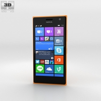 Nokia Lumia 730 Orange 3D Model