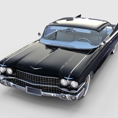 1959 Cadillac Eldorado Coupe rev 3D Model