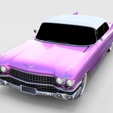 1959 Cadillac Eldorado 62 Series Convertible rev 3D Model