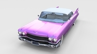 1959 Cadillac Eldorado Biarritz Top rev 3D Model