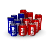 Drinks Cans - Complete Set 3D Model