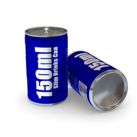 Drinks Can - 150ml Slim 3D Model