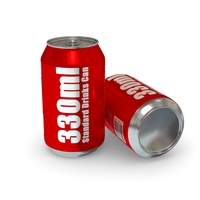 Drinks Can - 330ml Standard 3D Model