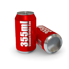 Drinks Can - 355ml Standard 3D Model