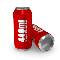 Drinks Can - 440ml Standard 3D Model