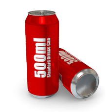 Drinks Can - 500ml Standard 3D Model