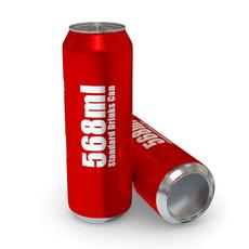 Drinks Can - 568ml Standard 3D Model
