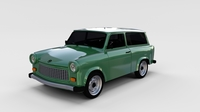 Trabant 601 estate rev 3D Model