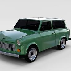 Trabant 601 estate rev 3D Model