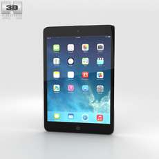 Apple iPad Mini 2 Space Grey 3D Model