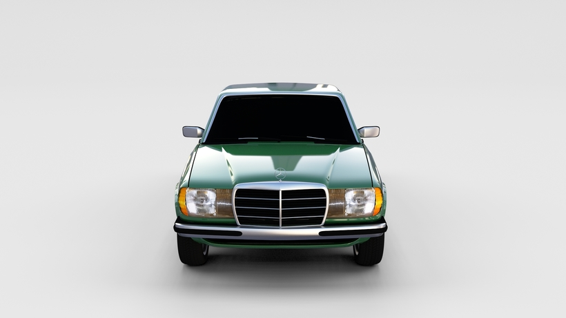 Mercedes-Benz W123 rev 3D Model