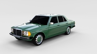 Mercedes-Benz W123 rev 3D Model