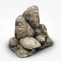 Detailed rock formation 3D Model